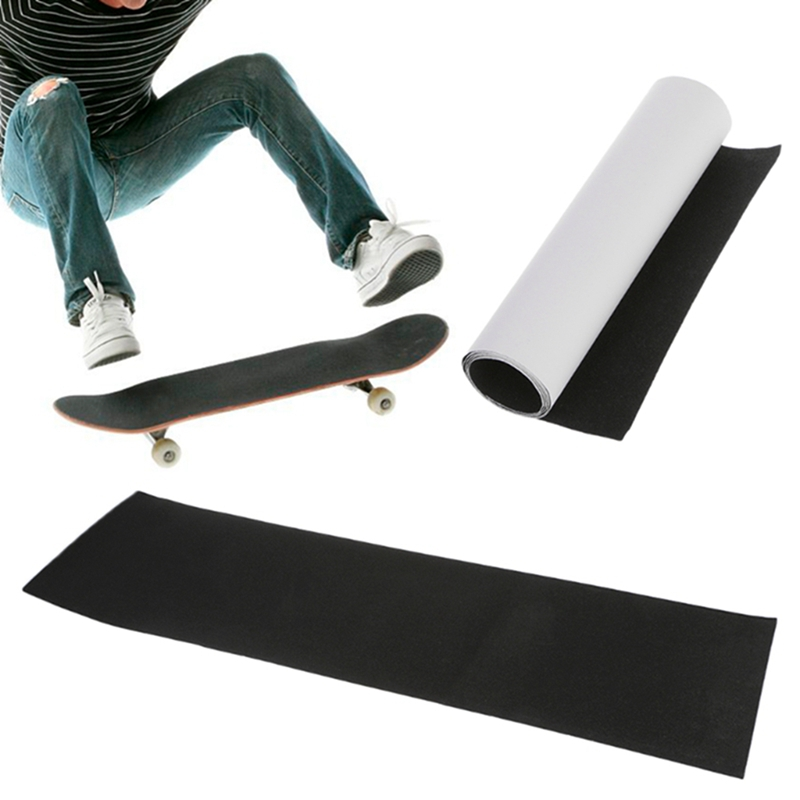 Professional Black Skateboard Deck Sandpaper Grip Tape For Skating Board Longboarding 83*23cm