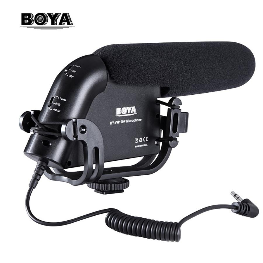 BOYA BY-VM190P Camera Stereo Video Condenser Shortgun Microphone for Canon Nikon Pentax DSLR Camera Camcorder микрофон fujimi by vm190p