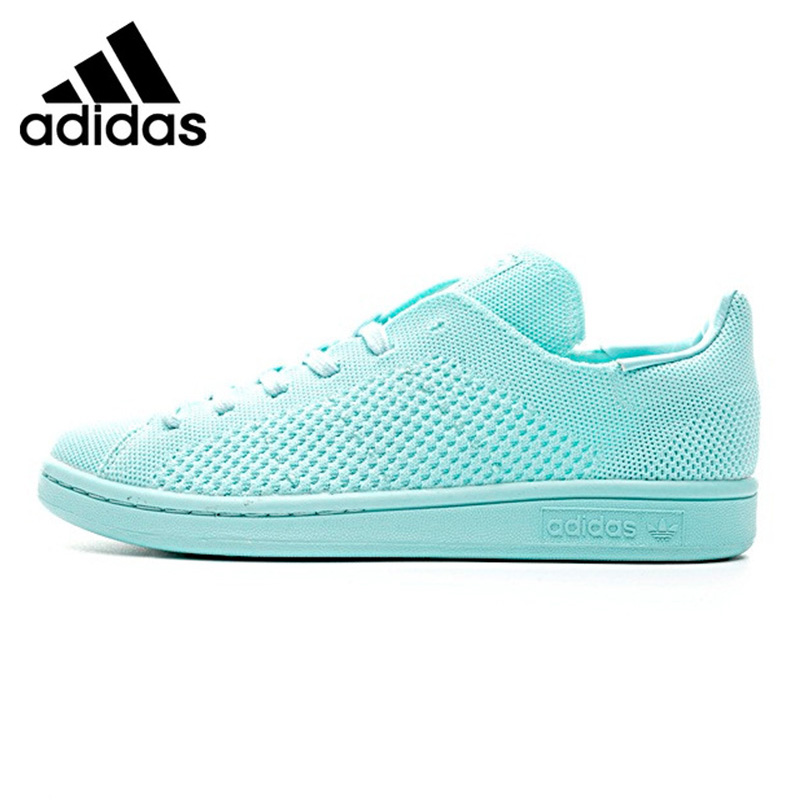 en soldes 03160 2db96 Adidas Stan Smith PK Men's and Women's Skateboarding Shoes Light Blue/Light  Brown Lightweight S80066 S82156 EUR Size U