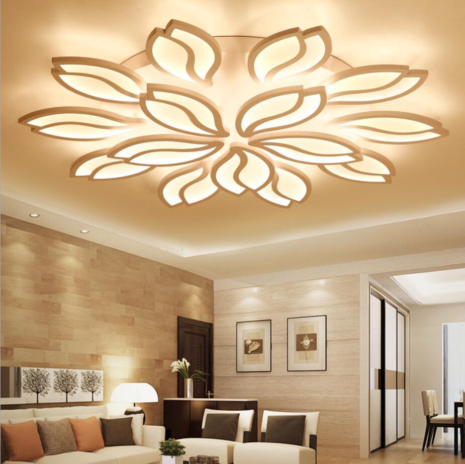 New Lotus Flower Modern Led Dandelion Ceiling Lamp Dinner