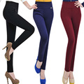 S-XXXXL Plus Size Womens Leggins 2015 Fashion Four  Pockets Stitching Leggings High Waist Was Thin Pants calzas leggins  BG497