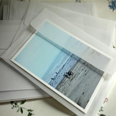 10pcs/lot  175*125mm New Korea Vintage Blank Translucent Vellum Envelopes DIY Multifunction Lovely  Gift