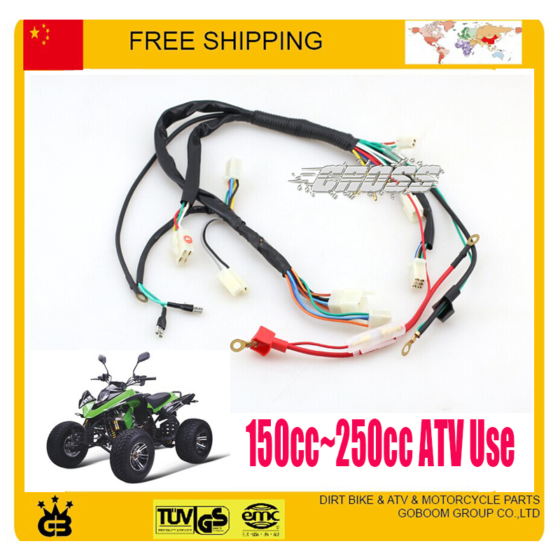US $45 99 |200CC 250cc ATV QUAD ZONGSHEN LONCIN LIFAN YX parts electric  cable assy electronic wire atv quad accessories free shipping-in Motorbike