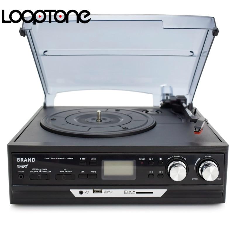 LoopTone 3-Speed Vinyl LP salvestusmängijad Plaadimängija - Kaasaskantav audio ja video - Foto 2