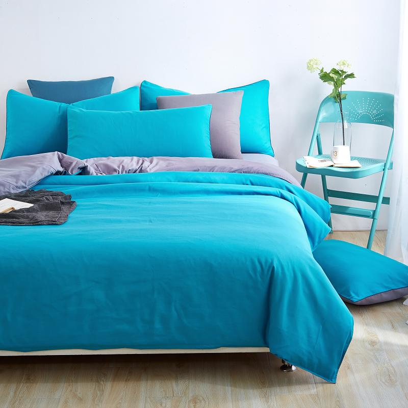 Home Bedding Sets Solid Color Bed Sheet Duver Quilt Cover
