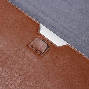 Image 5 - Кожаная сумка для ноутбука Macbook Air PRO 13, чехол 11 12 15, чехол для ноутбука из искусственной кожи, ультрабук, сумка для переноски