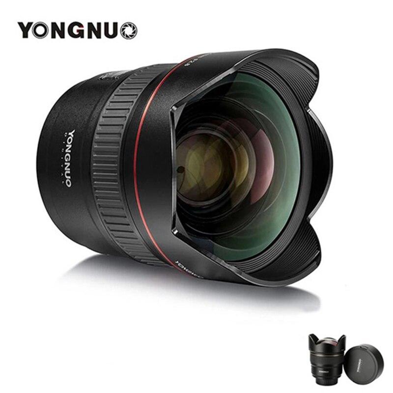 Objectif d'appareil photo Yongnuo 14mm F2.8 pour Canon EOS 700D pour Nikon D5300 YN14mm F2.8N objectifs premiers Ultra grand Angle AF MF