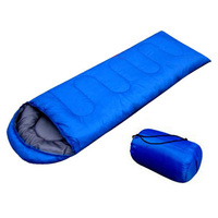 JHO Outdoor Waterproof Travel Envelope Sleeping Bag Camping Hiking Carrying Case Blue
