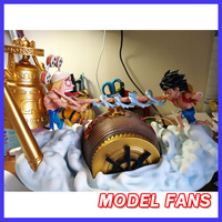 MODEL FANS INSTOCK 28cm one piece Luffy vs Enelo GK resin made for Collection Handicrafts