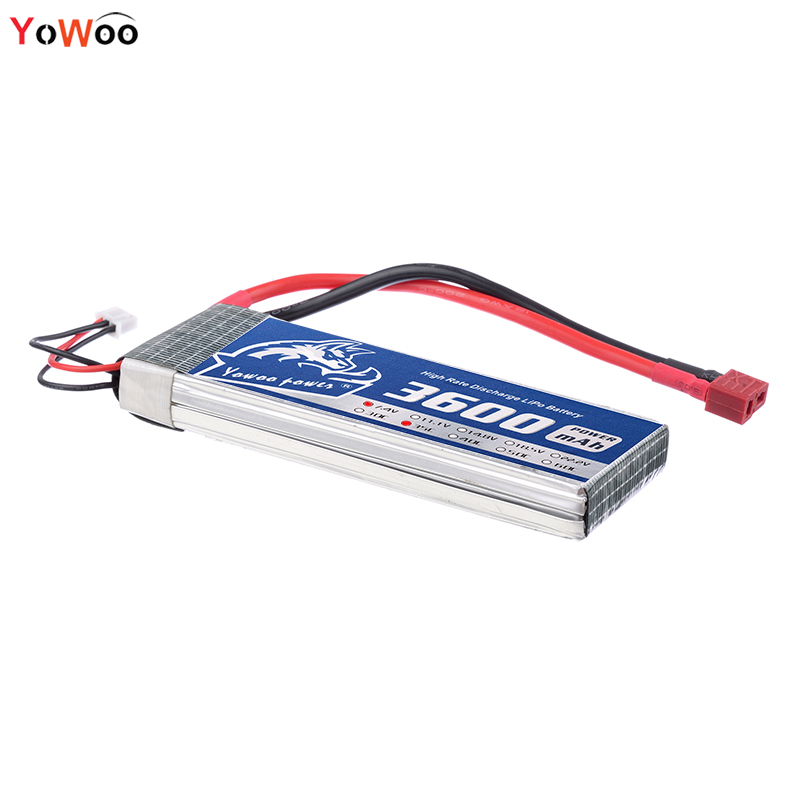 YOWOO RC Lipo 2S Battery 3600mah 7.4V 35C Max Burst 70C Deans RC Bateria For Drone AKKU Helicopter Airplane Car Boat Quadcopter 2pcs hrb rc lipo 3s battery 11 1v 3000mah 35c max 70c drone akku for rc bateria helicopter airplane car boat quadcopter uav fpv