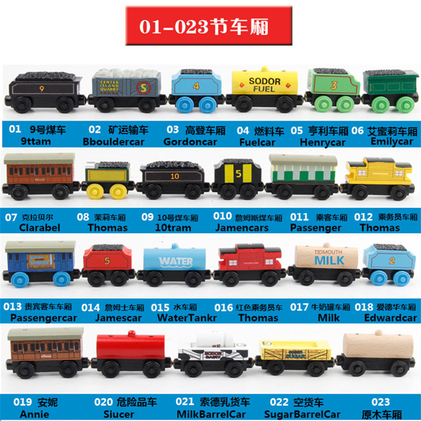 Thomas and His Friends Wooden Trains Carriage Model Toy Gifts for Boys Girls Kids Christmas Toys Toy Vehicles Magnetic Train