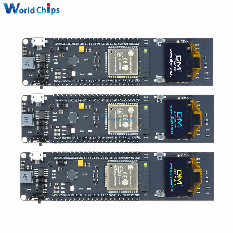 0.96 Inch OLED Display 18650 Lithium Battery WiFi Bluetooth Shield ESP32 ESP-32 ESP8266 CP2102 Module Development Board Module