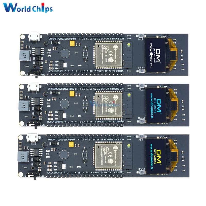 0.96 Inch OLED Display 18650 Lithium Battery WiFi Bluetooth Shield ESP32 ESP-32 ESP8266 CP2102 Module Development Board Module