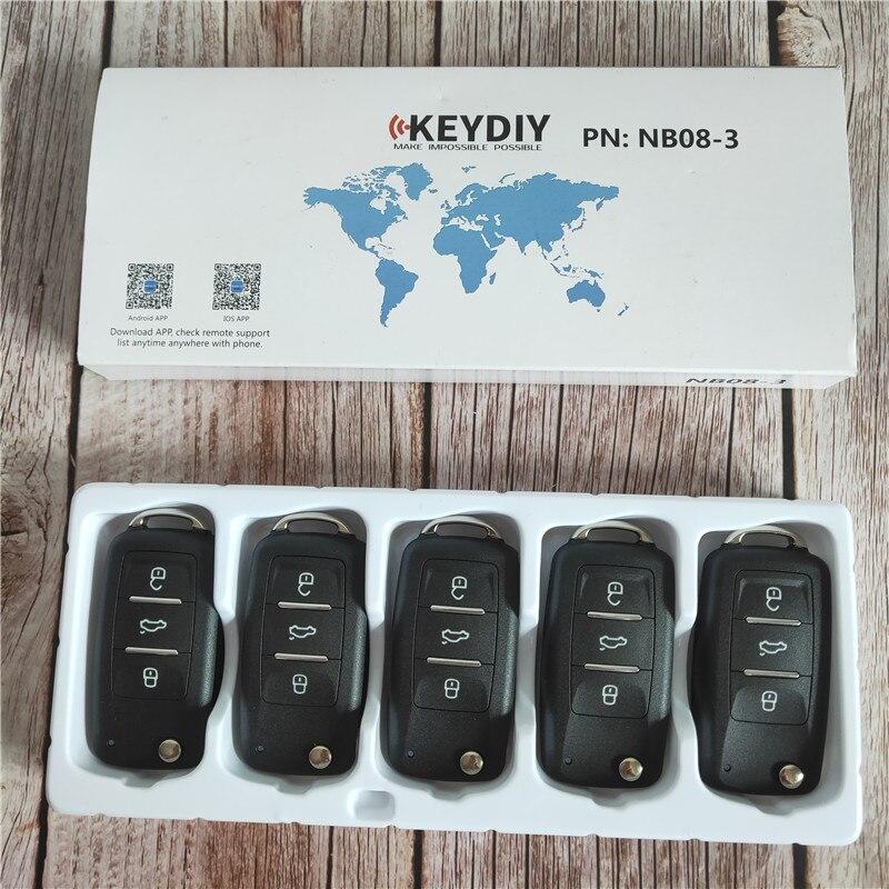 5 pcs/lot, KEYDIY Original KD900/KD-X2 programmeur clé NB08-3 universel multi-fonctionnel KD MINI télécommande avec puce PCF