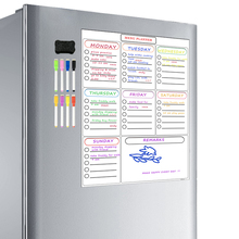 Magnetische Wöchentlich Planer Whiteboard Kühlschrank Schrank Büro Trockenen Löschen Kalender Familie Mahlzeit Planer Memo Board Einkaufen Liste