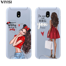 For Samsung Galaxy S8 case samsung s10 S6 S7 Edge S9 Plus S10 Lite Cover TPU Christmas Queen Princess Girl Baby Etiu Fundas