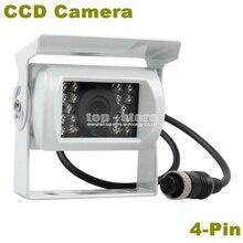 DIYKIT New 4PIN HD CCD IR Night Vision Car Rear View Reversing Parking Camera For Truck Van Bus Lorry White