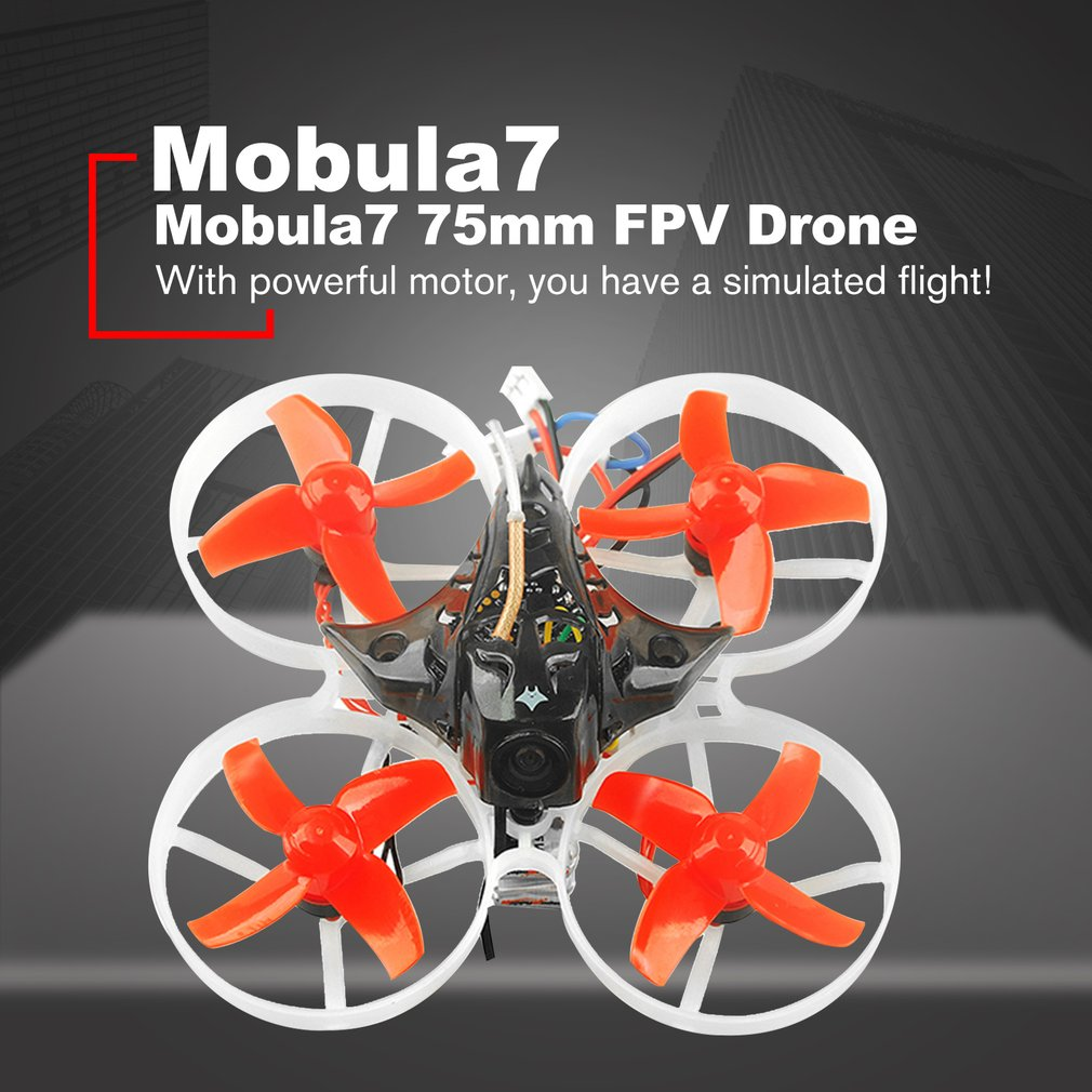 Happymodel Mobula7 75mm Mini Crazybee F3 Pro OSD 2S Whoop RC FPV Racing Drone Quadcopter with Upgrade BB2 ESC 700TVL BNF HOT! eachine us65 uk65 65mm whoop racing rc quadcopter drone fpv bnf with crazybee f3 flight controller osd 6a blheli s esc