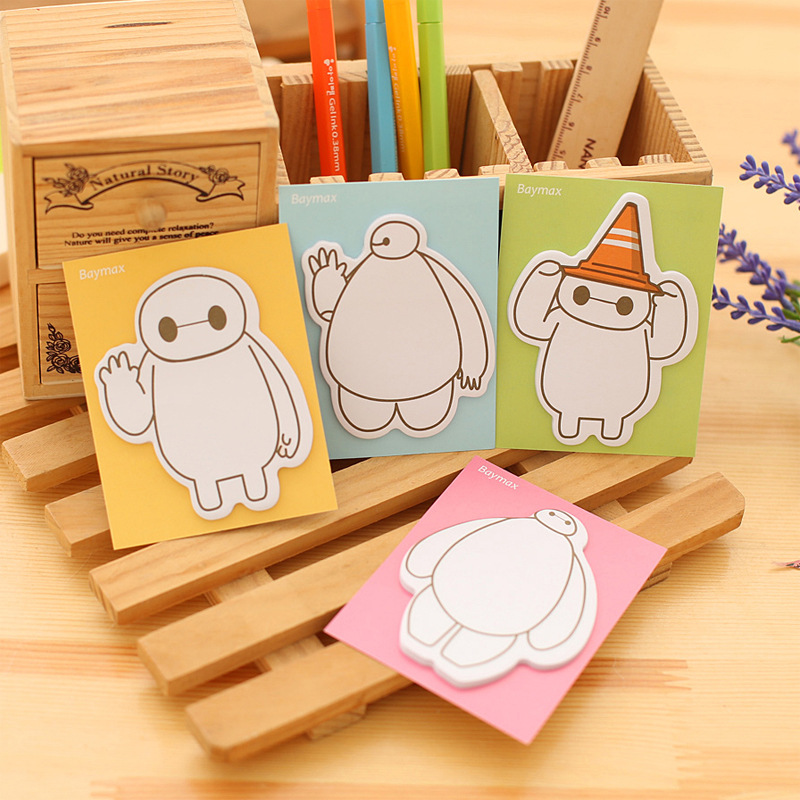 2PCS/LOT GENKKY Creative cute stationery, white N times stickers, sticky notes, notes this, super marines posted message