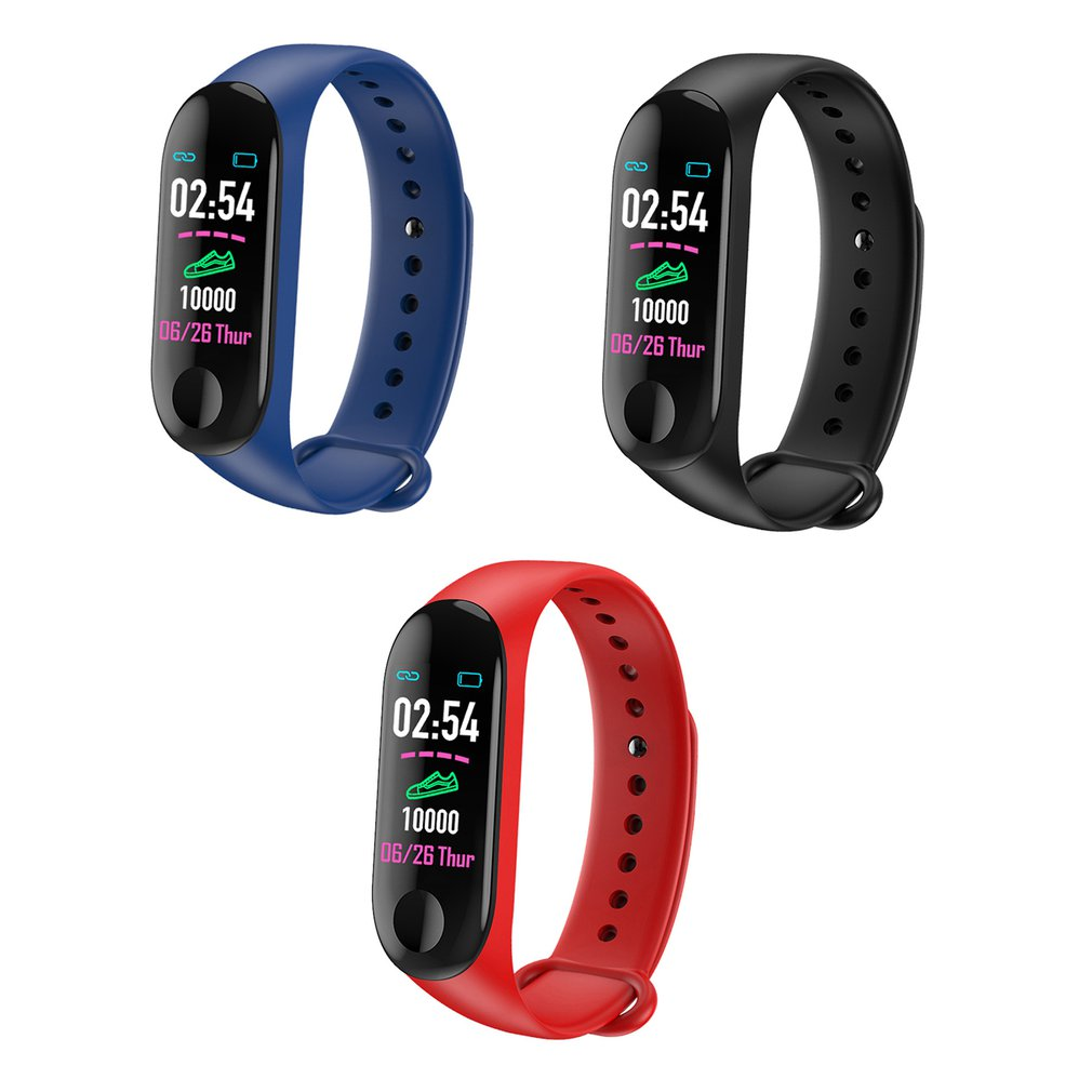 M3 Smart Wristband Fitness Bracelet MiBand Band 3 0.96 Inch Color Screen OLED Message Heart Rate Time Smartband Trendcy
