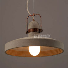 Vintage Retro Industrial E27 LED Iron Cement Loft Cafe Ceiling Light Droplight Lamp Bar Corridor Store Dining Restaurant Decor