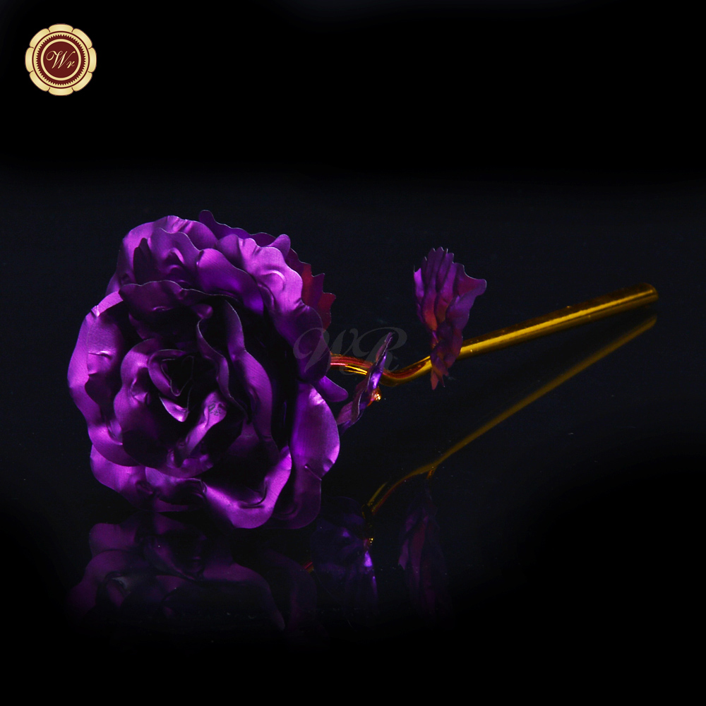 Quality last forever 24k gold foil flower beautiful purple rose quality last forever 24k gold foil flower beautiful purple rose flower wedding decor best valentine gifts women favor in artificial dried flowers from izmirmasajfo