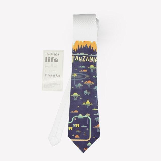 2016 new cartoon print groom neck tie neckwear man wedding fashion kravat male mariage leisure oil painting slim necktie