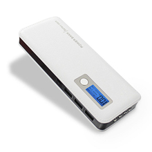 DCAE 12000 mAh Power Bank Cargador Portátil de Tres USB Cuatro Luces LED de Batería Externa Para Los Teléfonos Inteligentes de la Tableta de Carga Rápida