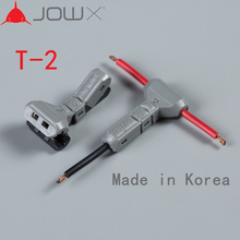 JOWX T-2 10PCS 18AWG 0.75sqmm Car Connectors Terminals Non-stripped T Type Wire Cable Connector Joint Quick Splice Crimp