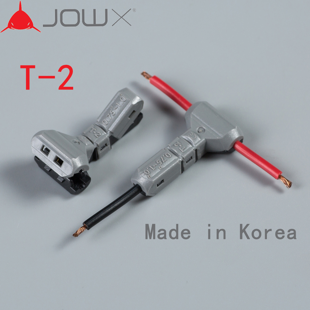 Hot Sale JOWX T-2 10PCS For 1 Pin 18AWG 0.75SQMM Non-stripped T Type ...