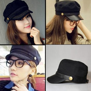 8ef0154f5b9 2013 new style Korean women fashion Visors Sunbonnet Hats army cap military  hats free shipping
