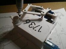 Caja de Plotclock versión reloj robótico escribe la hora con un marcador inteligente trazado reloj DIY Robot con UNO dibujo Robot taladro reloj