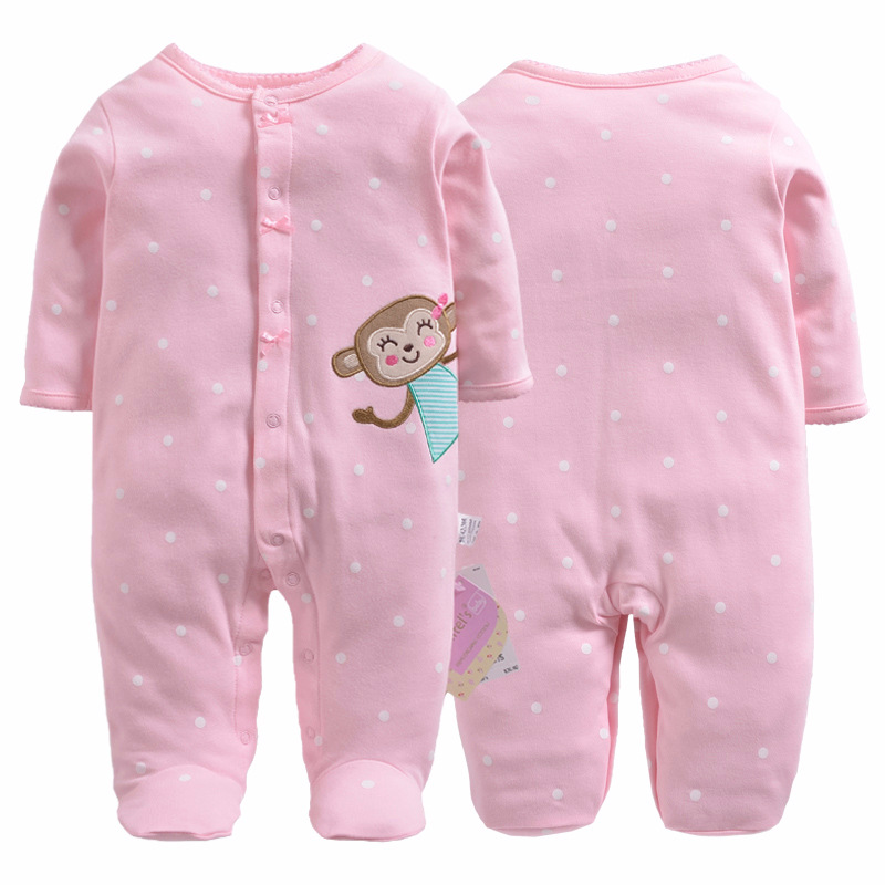 2018 baby pajamas boys jumpsuit newborn coverall romper cartoon raccoon infants bebe jumpsuit baby girls clothes monkey 1pcs winter jumpsuit hip hop monkey animal shapes conjoined baby coverall pile thickness footies n06