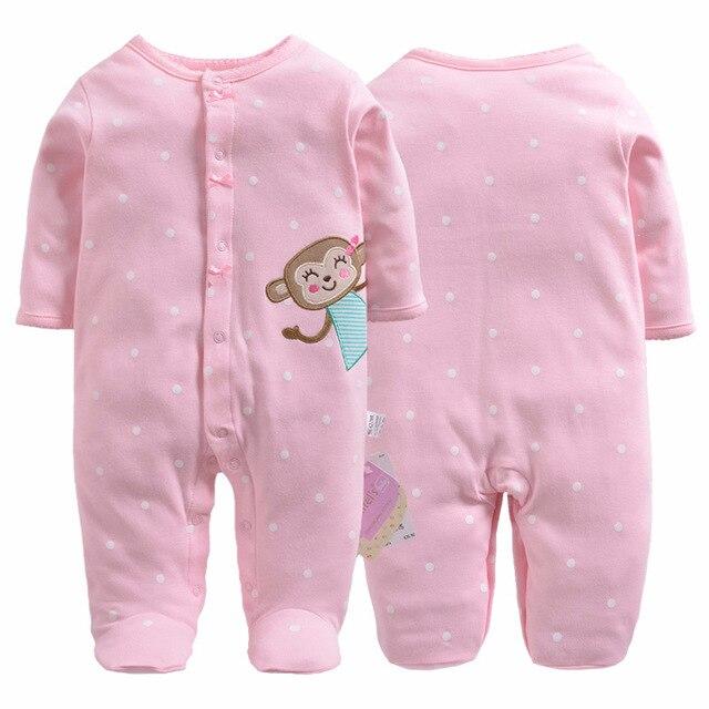 b81f2a993 2018 baby pajamas boys jumpsuit newborn coverall romper cartoon ...