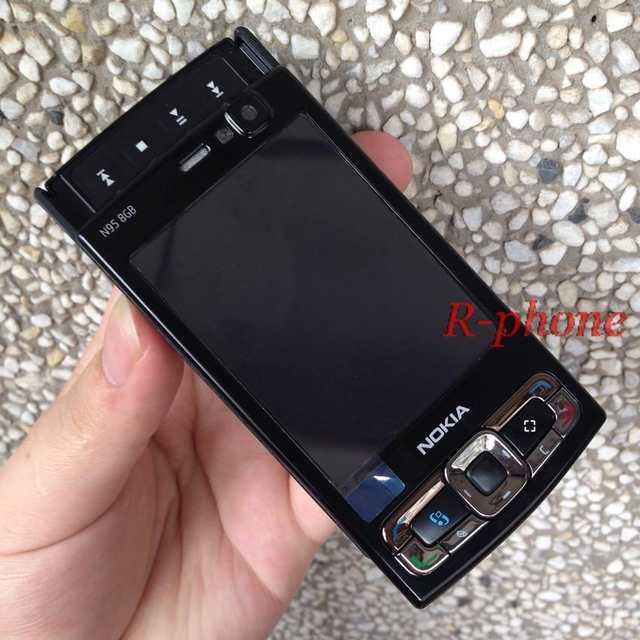 8gb Arabic Unlocked Nokia Russian Keyboard 5mp Smartphone Gps Wifi phone Gsm 3g Keyboard 63 Mobile 8''screen 2 3g 50 N95 mobile Phone Us original