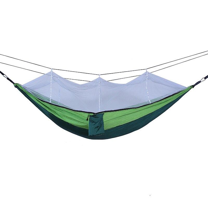 Image 2 - Camping Parachute Hammock Survival Garden Outdoor Furniture Leisure Sleeping Hamaca Travel Double Hammock 260*140cm-in Hammocks from Furniture