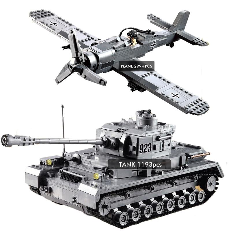 Pandadomik Military 1492pcs Tank Fighter Army Set Building Toy Bricks Blocks Model legoinglys Constructor Toys for Boys Gifts