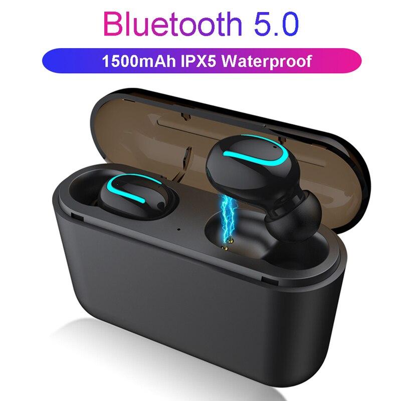 TWS Bluetooth Earphone Wireless Headphone IPX5 Waterproof Wireless Bluetooth Headset With Mic Stereo Sports Headphones for