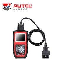 Autel Autolink AL439 OBDII Narzędzie Diagnostyczne Auto Multimetr AVOMeter Skaner Kolorowy Ekran Testy Elektryczne Silnik Code Scanner