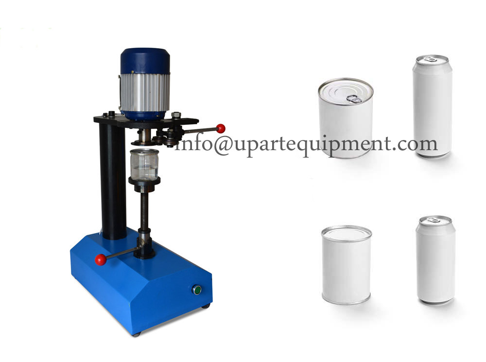Tabletop Semi Automatic Beer Tin Can Sealing Machine