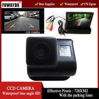 FUWAYDA 자동차 사이드 카메라 백업 주차 밤 viosion 마즈다 6 마즈다 3 CX-7 CX-9, 4.3 인치 접이식 LCD 모니터 HD