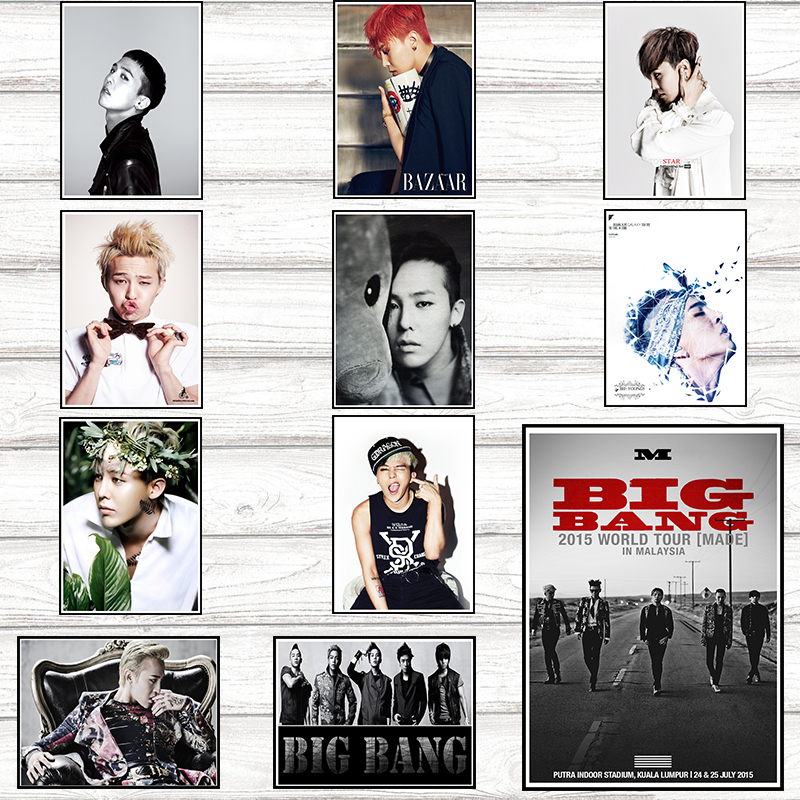 G-dragon BIGBANG Posters Wall Stickers Home Decoration White Coated Paper 42*30cm