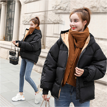 Korean Style 2019 Winter Jacket Women Hooded Oversized Bubble Fashion Female Coa