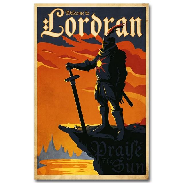 Шелковый Плакат Гобелен Dark Souls В ассортименте 2