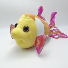 2016 New Kids Plush Toys Cute Goldfish 30cm Cartoon Baby Marine Animals & Plush Toys for Children Baby Stuffed & Plush Doll Toys