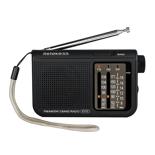 RETEKESS V117 AM FM SW Portable Senior Radio Transistor Radio Receiver Short Wave Battery Powered Advanced Tuner Receiver