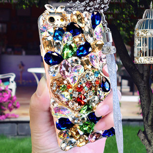 Image 2 - Luxe Kristal Kleur Gem Rhinestone Case Voor Huawei Honor 9X Pro 8X Max 7X 20 Pro I S 10 9 8 Lite V20 30 Note8 Telefoon Case Cover