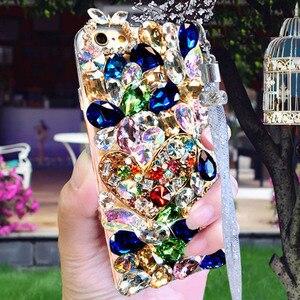 Image 2 - Luxo cristal cor gem strass caso para huawei honor 9x pro 8x max 7x 20 pro i s 10 9 8lite v20 30 note8 capa de telefone