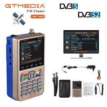 GTmedia v8 finder meter supports h.265 satellite finder hd 1080p satfinder DVB-S2/s2x supports spectrum vs satlink ws6933 MPEG-4 freesat v8 finder satellite finder ship from spain 1080p hd dvb s2 satlink ws 6950 mpeg 2 mpeg 4 vs satlink 3 5inch lcd screen