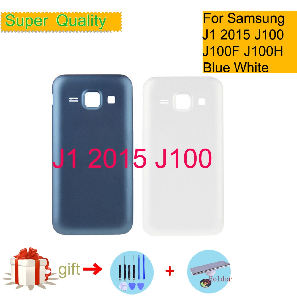 For <font><b>Samsung</b></font> <font><b>Galaxy</b></font> J1 DUOS <font><b>2015</b></font> <font><b>J100</b></font> J100F J100H J100M J100FN Housing Battery Cover Back Cover Case Rear Door Chassis Housing image